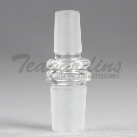 18mm to 14mm male to male Bridge Glass Attachment concentrate tools