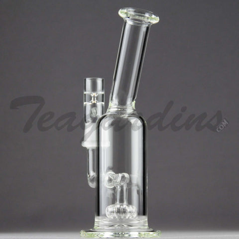 "Teagardins Glass -  Fixed Showerhead Percolator Stemless Dab Rig - 5mm Thickness / 8"" Height"