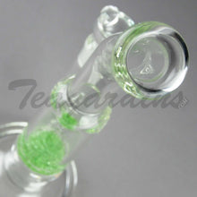 "Load image into Gallery viewer, Teagardins Glass - Bubbler - Fritted Disc Percolator Stemless Straight Water Pipe - Green - 4mm Thickness / 10"" Height"