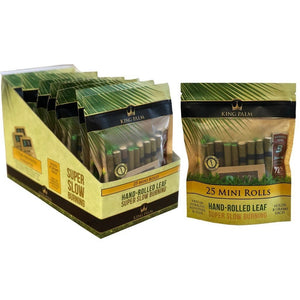 King Palm - Hemp Wrap Mini Hand-Rolled Leaf Super Slow Burning 25ct