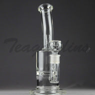 Teagardins Glass - Vortex Turbine Percolator Stemless Straight Water Pipe - 5mm Thickness / 11