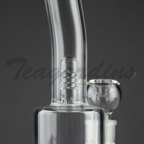 Teagardin's Glass Stemless 65mm Water Pipe with Turbine Percolator and Splash Guard