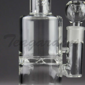 "Teagardins Glass - Vortex Turbine Percolator Stemless Straight Water Pipe - 5mm Thickness / 11"" Height"