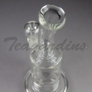 "Teagardin's Glass - Stemless Straight Water Pipe - 5mm Thickness / 11"" Height"