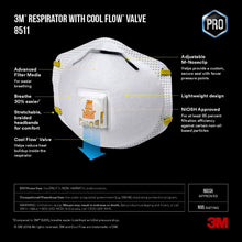 Load image into Gallery viewer, 3M - N95 Paint Sanding Valved Respirators Masks 8210 Plus