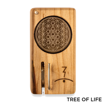 Load image into Gallery viewer, Magic Flight - Dry Herb Vaporizer Launch Box Laser Etched Lid Tree of Life for sale