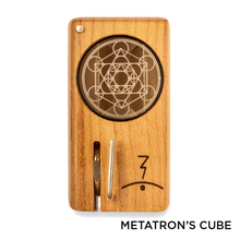 Load image into Gallery viewer, Magic Flight - Dry Herb Vaporizer Launch Box Laser Etched Lid Metatron's Cube for sale
