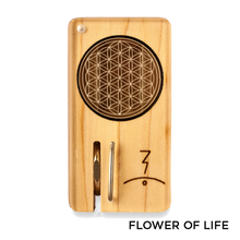 Load image into Gallery viewer, Magic Flight - Dry Herb Vaporizer Launch Box Laser Etched Lid Flower of Life for sale
