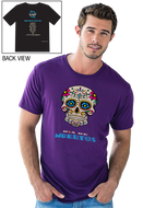 Gonesh -  T-Shirt Day of the Dead Purple for sale