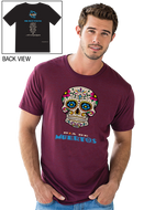Gonesh -  T-Shirt Day of the Dead Maroon for sale