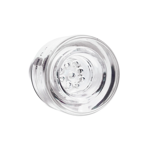 Purr - Glass Bowl - 18MM Male Heady 9-Hole For Sale