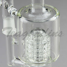 "Load image into Gallery viewer, Teagardins Glass -  D.I. Bubbler - Double Mini Matrix & Matrix Percolator Stemless Straight Water Pipe - 4mm Thickness / 10"" Height"