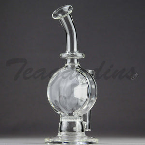 "Teagardins Glass -  Honeycomb Percolator Diffuser Disc Dab Rig - 5mm Thickness / 8"" Height"