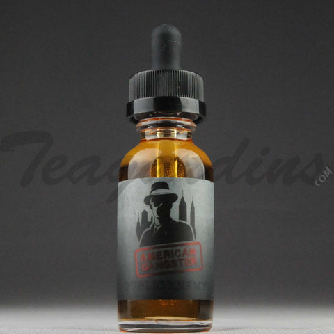 American Gangster E-Juice - Public Enemy Flavor (Custard, Nuts, & Pie Crust Undertones)