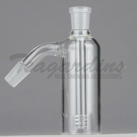 "Teagardins Glass - Fixed Diffuser Downstem Ash Catcher / Precooler - 45 Degree Arm / 5"" Height"