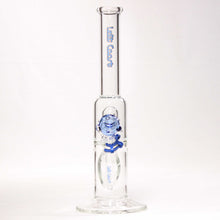 "Load image into Gallery viewer, Left Coast - Water Pipe Straight Blue Single Percolator 14"" Height"