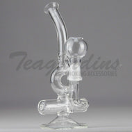 Teagardins Glass - D.I. Mini Tube Donut - Inline Percolator Diffuser Dab Rig - 5mm Thickness / 8