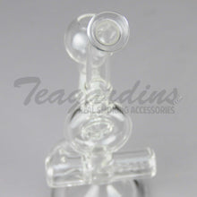 "Load image into Gallery viewer, Teagardins Glass - D.I. Mini Tube Donut - Inline Percolator Diffuser Dab Rig - 5mm Thickness / 8"" Height"