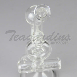 "Teagardins Glass - D.I. Mini Tube Donut - Inline Percolator Diffuser Dab Rig - 5mm Thickness / 8"" Height"