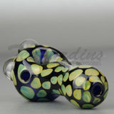 Cobalt Glass Worked Spoon Hand Pipe