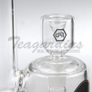 "Delta 9 Glass - Octopus - Fixed Matrix Percolator Straight Waterpipe - Black & Gold Decal - 5mm Thickness / 12.5"" Height"