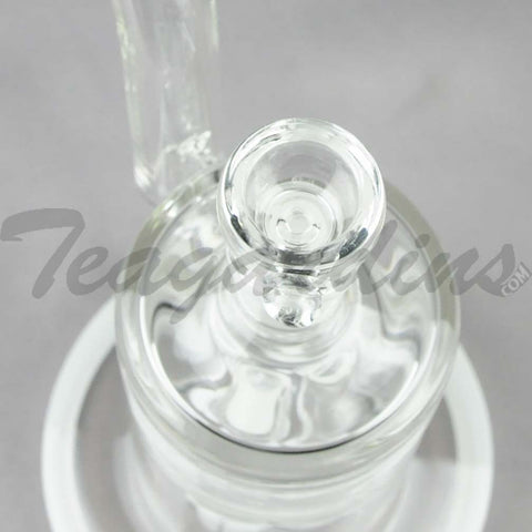 "Teagardins Glass - Bubbler - Quad Fixed Showerhead Percolator Straight Water Pipe - 4mm Thickness / 10"" Height"