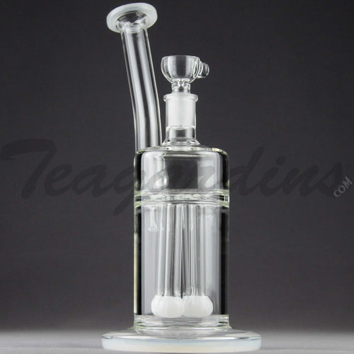 Teagardins Glass - Bubbler - Quad Fixed Showerhead Percolator Straight Water Pipe - 4mm Thickness / 10