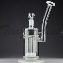 "Load image into Gallery viewer, Teagardins Glass - Bubbler - Quad Fixed Showerhead Percolator Straight Water Pipe - 4mm Thickness / 10"" Height"