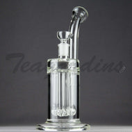 Teagardins Glass -  D.I. Bubbler - Quad Showerhead Downstem Straight Water Pipe - 4mm Thickness / 10