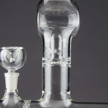 Load image into Gallery viewer, Teagardin's Glass - Stemless Water Pipe With Inline Diffuser Splash Guard and Curve Neck