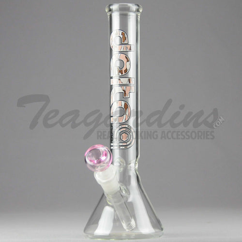 Delta 9 Glass - Diffuser Downstem Beaker Water Pipe - Pink Camo Decal - 5mm Thickness / 10
