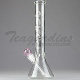 "Delta 9 Glass - 10"" 38mm Beaker Waterpipe Pink"