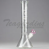 "Delta 9 Glass - Beaker Water Pipe - Pink Camo Decal - 5mm Thickness / 10"" Height"