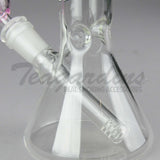 "Delta 9 Glass - Diffuser Downstem Beaker Water Pipe - Pink Camo Decal - 5mm Thickness / 10"" Height"