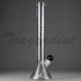 "Delta 9 Glass - Beaker Water Pipe - Black & Gold Decal - 5mm Thickness / 14"" Height"