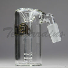 "Load image into Gallery viewer, Delta 9 Glass - Fixed Diffuser Downstem Ash Catcher / Precooler - 45 Degree Arm / 3"" Height"
