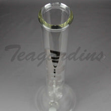 "Load image into Gallery viewer, Delta 9 Glass - Beaker Water Pipe - Chrome Decal - 5mm Thickness / 18"" Height"