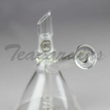 "Delta 9 Glass - D.I. Oiler Beaker Dab Rig - Gold Decal - 4mm Thickness / 6.5"" Height"