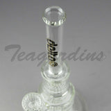 "Delta 9 Glass - Inline Pyramid Double HD Percolator Water Pipe 13"" Height"