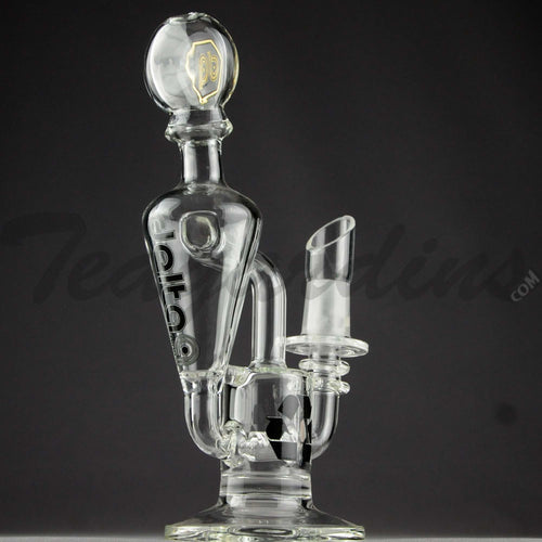 Delta 9 Glass - Mini Recycler Diffuser Percolator Dab Rig - Black Decal - 4mm Thickness / 7