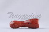 Derelic Wood Chillum Pipe Custom Hand Carved from Briar Wood for sale at Teagardins