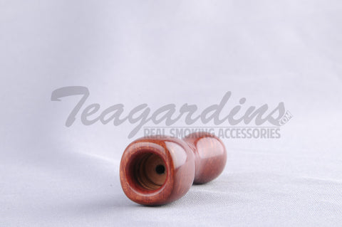 Derelic - Briar Custom Hand Pipe Chillum Medium Walnut