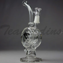 Load image into Gallery viewer, Diamond Glass - Incycler Oil Rig Recycler Bubbler
