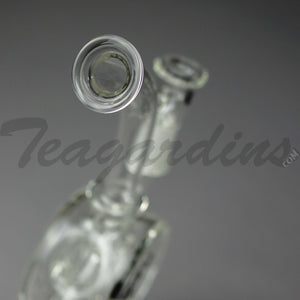 "Diamond Glass - Drive Thru Faberge Egg Recycler Honeycomb Percolator Stemless Dab Rig - 5mm Thickness / 10"" Height"