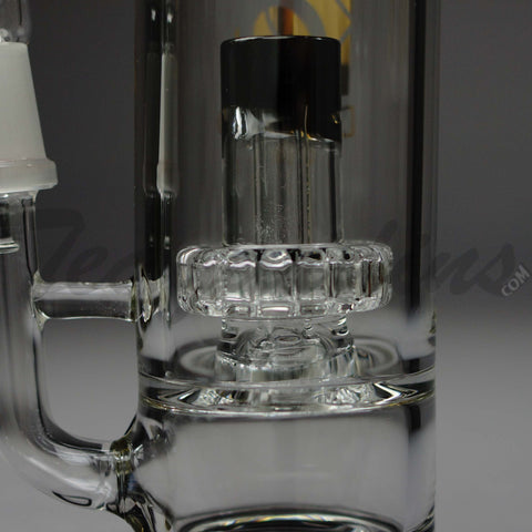 Diamond Glass - Worked D.I. Oil Rig Bubbler With Showercap Percolator