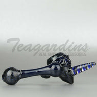 Drakken Glass Cobalt Steel Wool Sectional Sidecar Heady Glass Hand Pipe