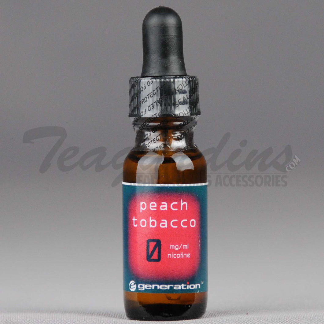 E-Generation 101 Bold E-Juice Peach Tobacco Flavored