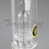 "Eagle Eye Glass 10"" Stemless Water Pipe With Showercap Percolator"