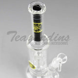"Eagle Eye Glass - Stemless Bubbler Straight Water Pipe - 5mm Thickness / 10"" Height"