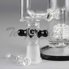 "Load image into Gallery viewer, Eagle Eye Glass 10"" Stemless Double Chamber Water Pipe with Double Matrix Percolators"